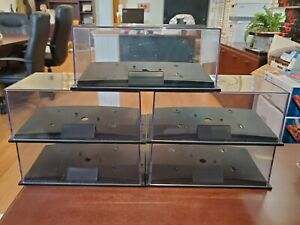 Lot of 5 Revell Stackable 1:24 Clear Diecast Plastic Display Cases, Used