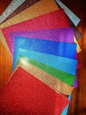 Scrapbook Cardstock 12x12 GLITTER GORGEOUS COLORS 10 pgs
