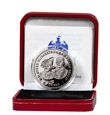 2017 British Indian Ocean Queen Elizabeth II & Philip 80th Silver Proof SKU48223