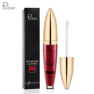 Beauty Long Lasting Metallic Lip Gloss Diamond Glitter Matte Liquid Lipstick