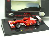 Hot Wheels 1/43 - Ferrari F1 F2002 Schumacher Canada GP