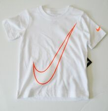 Nike Little Boys Swoosh Short Sleeve T-Shirt White Sz 3T - NWT