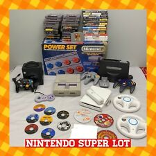 Mega nintendo 5 console Bundle LOT + 45 games NES SNES N64 GameCube WII TESTED