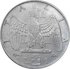 Italia Italy 1 Lira 1942 XX KM#77b Vittorio Emanuele III (it-15) magnetic