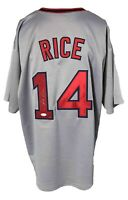 Jim Rice Autographed Pro Style Grey Jersey JSA Authenticated