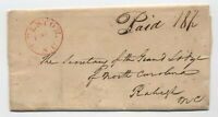 1823 Edenton NC saw-tooth CDS stampless letter to Raleigh masonic [5246.524]