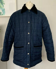 TOMMY HILFIGER Jacket Size Medium Navy BLUE | Quilted Smart Winter Coat Collar