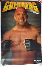 "RaRe. vintage Bill Goldberg gloves poster 22x34"" wrestling WWE WCW 90s (1998)"