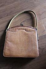 Vintage Palizzio Alligator Lizard  Reptile Purse Brown Handbag Stunner