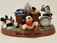 DISNEY -   WHEN WALT'S AWAY -  MICKEY MOUSE DESK CLOCK