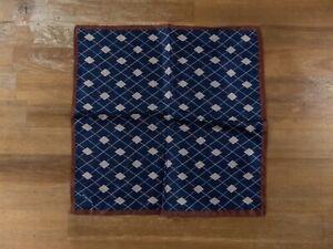 Z ZEGNA geometric motif silk pocket square authentic