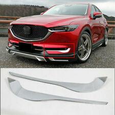 Fit For New Mazda CX-5 2017-2019 Chrome Front Fog Light Lamp Eyebrow Eyelid Trim