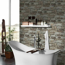 GRAHAM & Brown Slate stone Embossed Wallpaper DECORATING FEATURE WALL LOVELY NEW