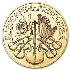2016 Austria 1/10 oz Gold Philharmonic BU - SKU #94938