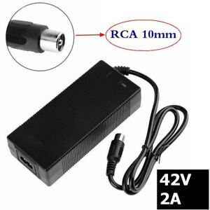 36V Charger Output 42v 2A For Ebike Battery RCA 10mm connector