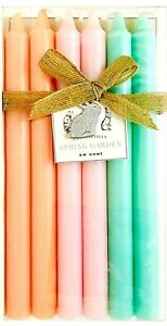 DW Home Cottageville Spring Garden 6 Ct Scented 10 Inch Multicolor Taper Candles