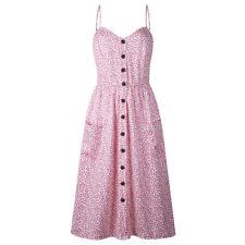 Hot Women Summer Boho Style Midi Dress Evening Party Casual Dress Print Dresses