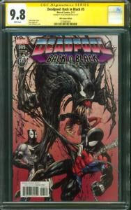 Deadpool Back in Black 5 CGC SS 9.8 Tyler Kirkham Spider Man v Venom Variant 17