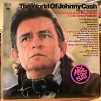 The World of Johnny Cash 2 LP Vinyl Set Columbia CG 29 Shrink Delia's Gone