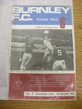 31/08/1968 Burnley v Coventry City  . Thanks for viewing this item, buy with con