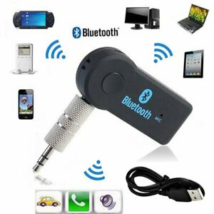 Bluetooth Wireless 3.5mm Aux Audio Car Receiver Adapter with Mic Speaker