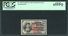 """1869-75 10 CENTS FRACTIONAL CURRENCY FR-1261 CERTIFIED PCGS """"GEM NEW 65-PPQ"""""""