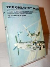 THE GREATEST ACES Edward H. Sims HC/DJ 1st/1st Edition Vintage 1967 WWII Pilots