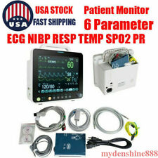 Portable 12 Vital Signs Multi Parameter Patient Monitor Nibp Resp Spo2 Machine