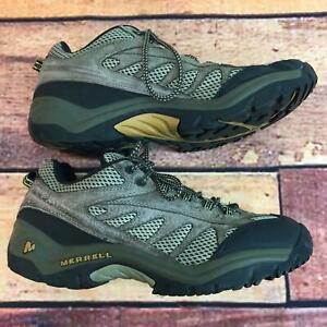Men's MERRELL Hicking Shoes Brown Leather Comfortable Shoes Size 8