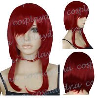 16 inch Hi_Temp Series Dark Red Shaggy cut Cosplay DNA Wigs 73DDR