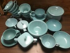 Vintage Turquoise Melamine Ware Lot Russel Wright Branchell Melmac Flair 39 pc.