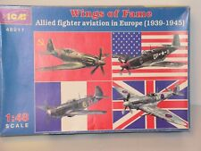 ICM #48911 1/48 WINGS OF FAME ALLIED FIGHTERS EUROPE 1939/1945 OPEN
