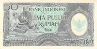 Indonesia 50 Rupiah 1964 AU P-96 - Free to Combine Low Shipping