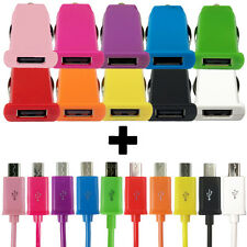 Fast Car Charger + Cable for HTC One M9 M8 M7 Micro USB Data Charging Adapter