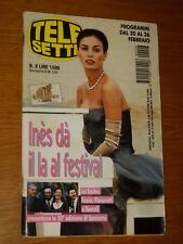 TELESETTE 2000/8=INES SASTRE SPECIALE FESTIVAL DI SANREMO CAMPIONI GIOVANI ECT=