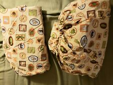 Woolrich Kids Camping boy scouts Theme Twin fitted and flat sheet set Euc