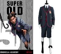 The Umbrella Academy School Uniform Cosplay Costume Kid Adult Full Set Halloween