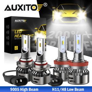 AUXITO LED Headlight Bulbs Error Free Kit 9005 H11 High Low Beam CANBUS White C7