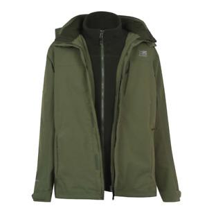 KARRIMOR 3 in 1 Weathertite Jacket Mens Green Size UK XL *REF136