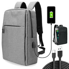 Laptop Backpack USB Charging Notebook Travel School Business Bag Anti Theft