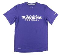 Nike Onfield Dri-Fit Mens Medium Baltimore Ravens NFL Football T-Shirt Purple