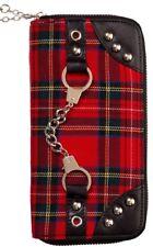 Banned Apparel Bondage Punk Red Tartan Handcuff Wallet Womens