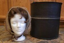 Vintage Antique Everbest Brown Brounette Wig 1960's Black Case Hollywood, FL