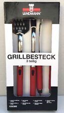 Landmann Grill 3 pezzi Set di strumenti Rosso-Nuovo in Scatola
