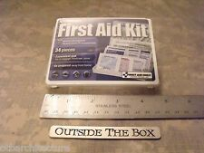 First Aid Only - 34 Piece All-Purpose First Aid Kit (Slim Plastic Box) Edc