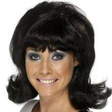 Vestido de lujo Negro Laca Película Up década de 1960 años 60 Damas de la peluca Nueva P5791