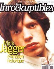 Les Inrockuptibles #36 -Mick JAGGER- Paolo Conte, David McAlmont, Baby Bird,...