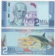 Costa Rica P-275 2009(2011) 2000 Colones (Gem UNC)