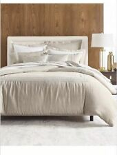 Hotel Collection Madison Linen FULL QUEEN COMFORTER COVER Duvet Cover.  $420