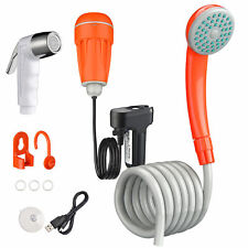 Outdoor Portable Camping Shower 2 Shower Head USB Rechargeable Batteries Shower